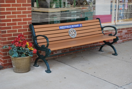 New Bench in Downtown Westfield